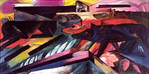 Franz Marc, The Wolves, 1913