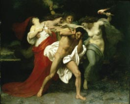 Adolphe William Bouguereau (French 1825-1905) , Orestes Pursued by the Furies, 1862