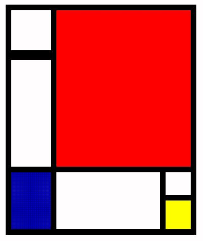 Paintings Images on Piet Mondrian  Komposition In Rot  Gelb Und Blau